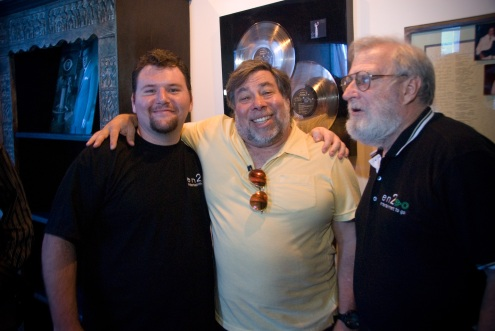 Adam on left, Woz center, Crunch right